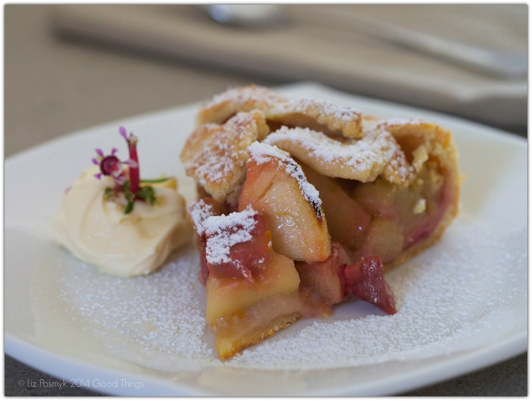 Rhubarb and apple galette by Lizzy from Good Things