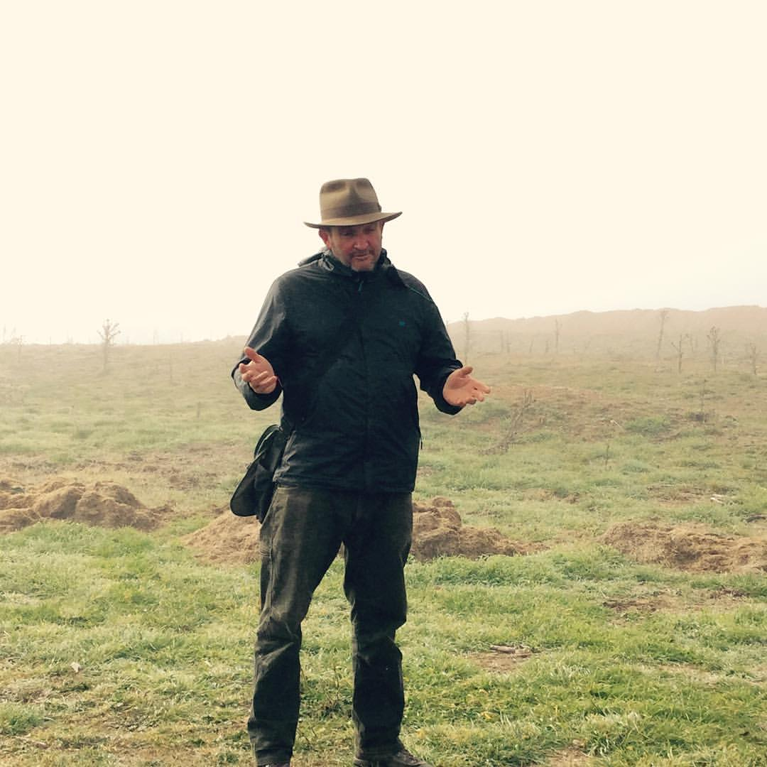 Damian Robinson explains the truffle hunt on his property at Turalla Truffles near Bungendore - photo courtesy Carmen Pearce Brown, c/- Good Things