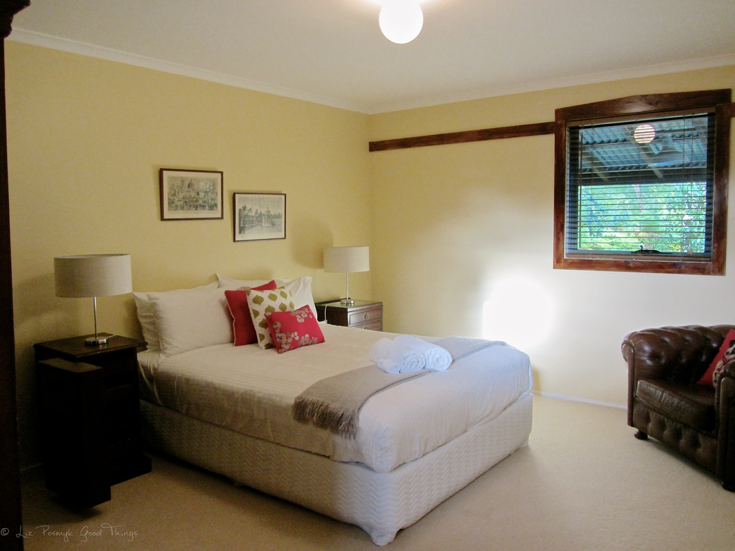 One of the six bedrooms at Sahali in the Kangaroo Valley NSW