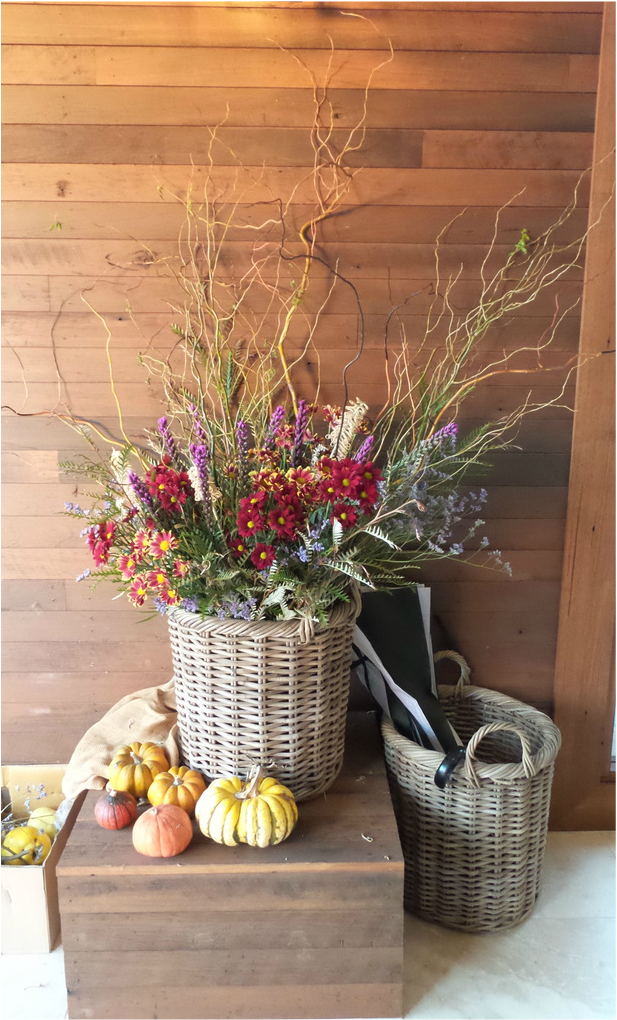 Rustic arrangement in the entry way at Pialligo Estate Canberra - photo by Liz Posmyk Good Things