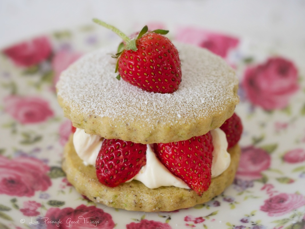 Strawberry pistachio shortcake by Liz Posmyk, Good Things