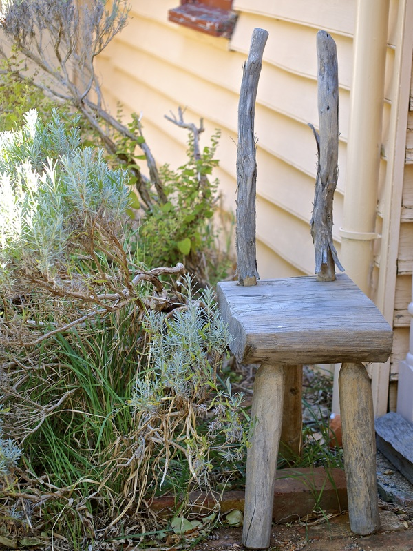 Old chair in the garden at Cooma Cottage - Liz Posmyk Good Things