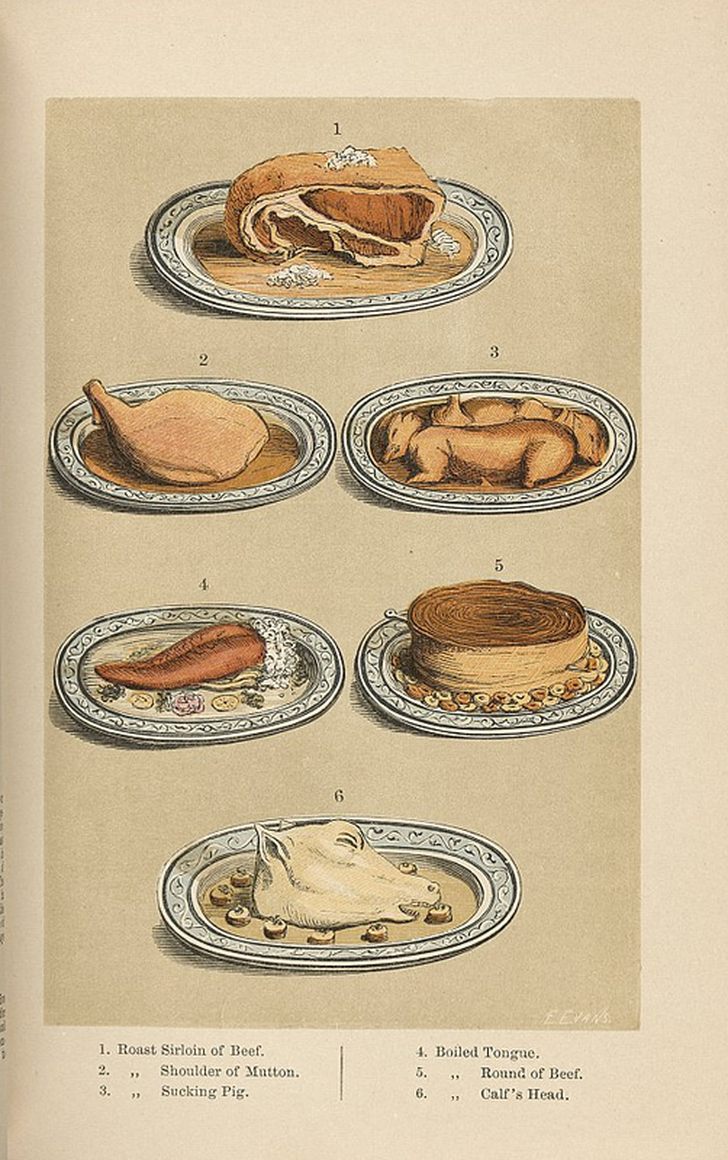 Image from Australia's first cookery book, reproduced courtesy NLA