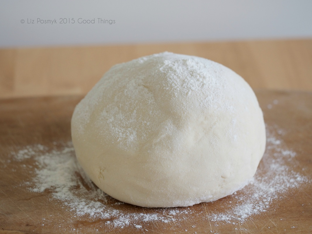 After mixing and kneading, you will have a smooth and elastic ball of dough