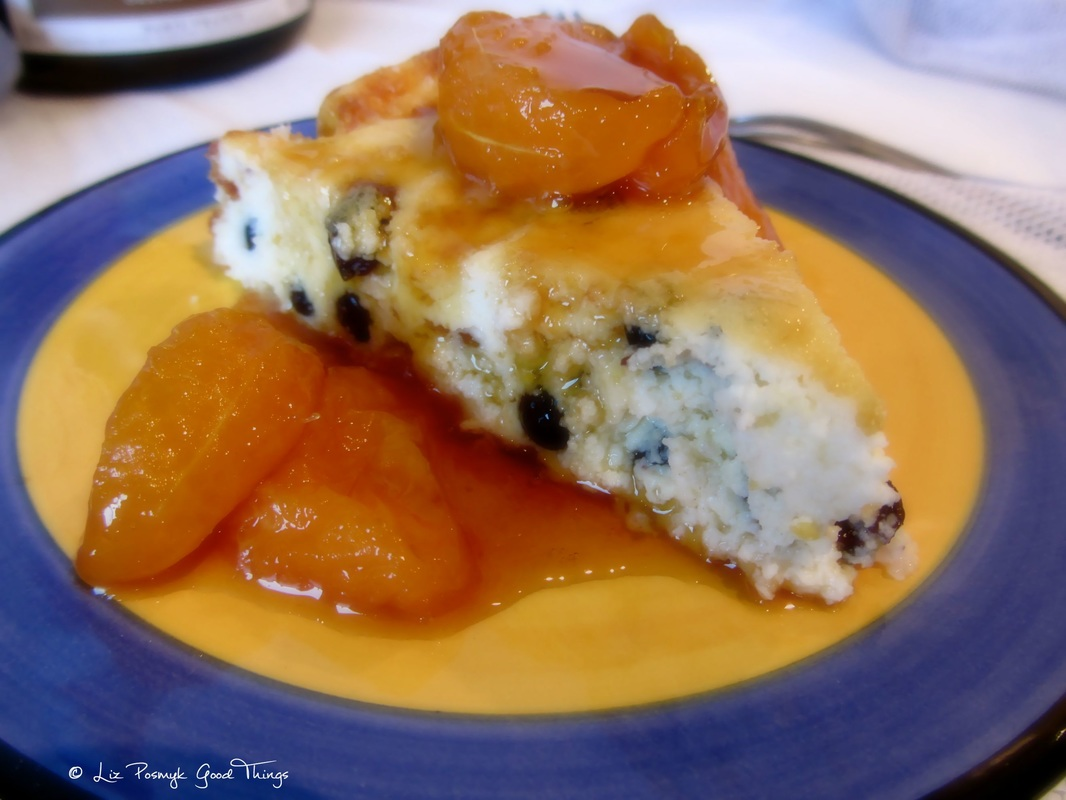 BAKED RICOTTA CAKE WITH CARAMELISED MANDARINS