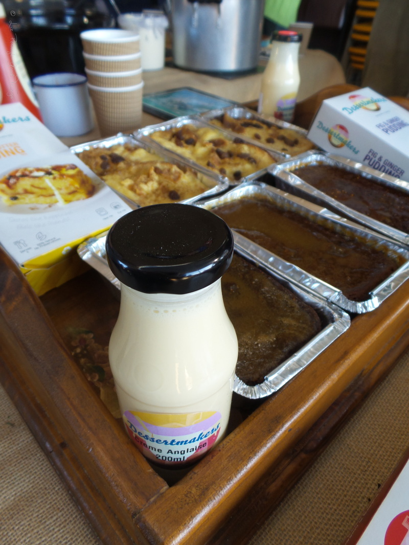 Creme Anglaise and a variety of delicious puddings from Dessertmakers