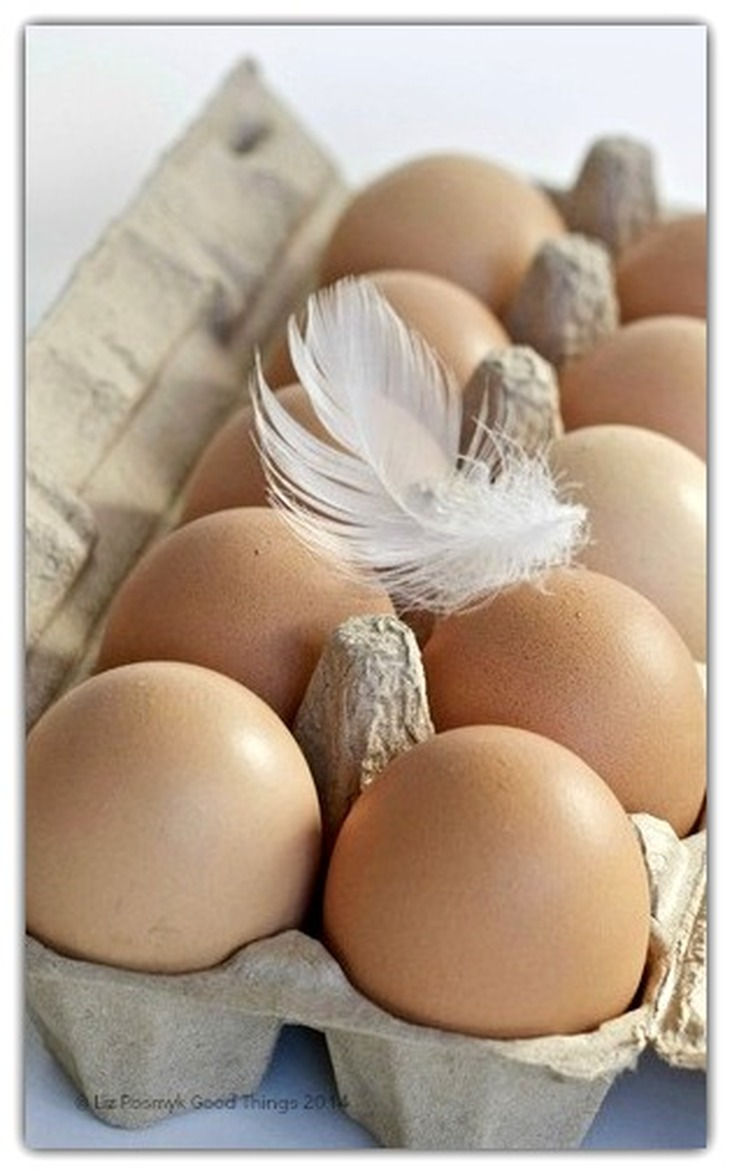 Fresh free range eggs by Liz Posmyk, Good Things