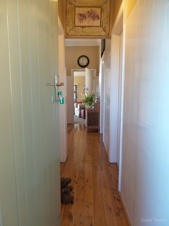 The hallway t Laurel View farm stay in the NSW Southern Highlands by Liz Posmyk Good Things
