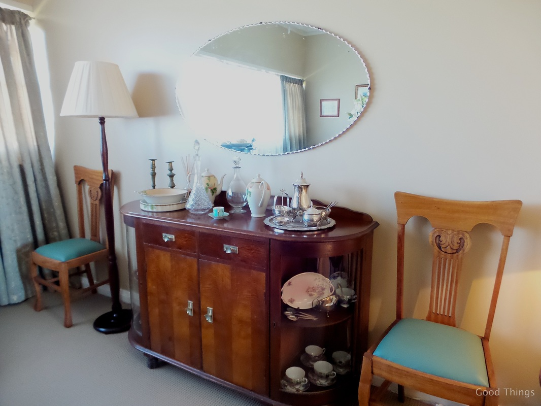Sideboard in the dining room t Laurel View farm stay in the NSW Southern Highlands by Liz Posmyk Good Things