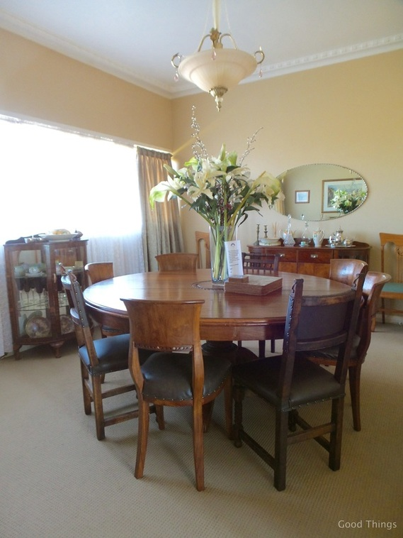 The dining room t Laurel View farm stay in the NSW Southern Highlands by Liz Posmyk Good Things