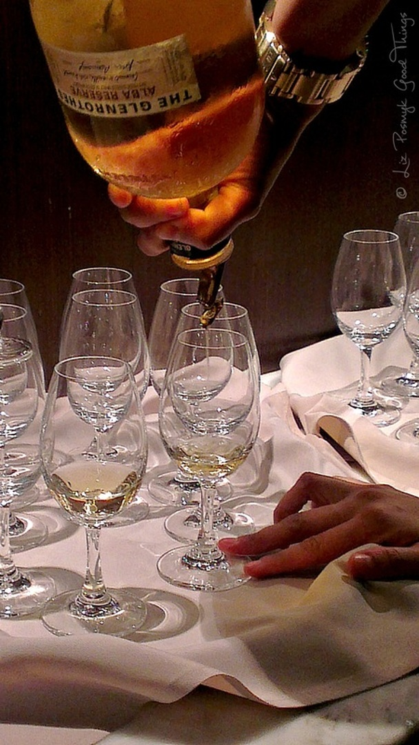 The Glenrothes Alba is poured into hand blown crystal whisky glasses - image by Liz Posmyk Good Things