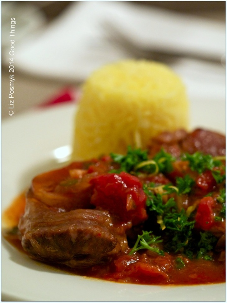 Osso bucco with saffron rice