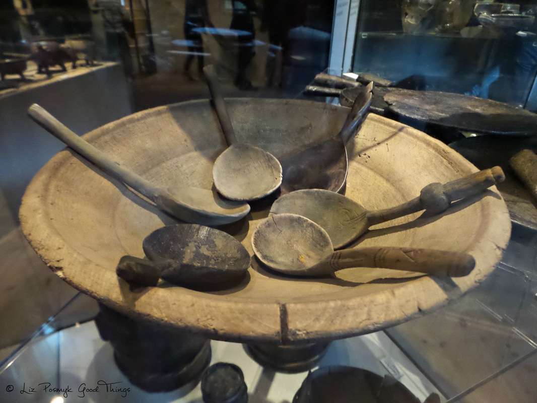 Wooden cookware found on the Vasa, which sank in the 1600s, photo by Liz Posmyk, Good Things
