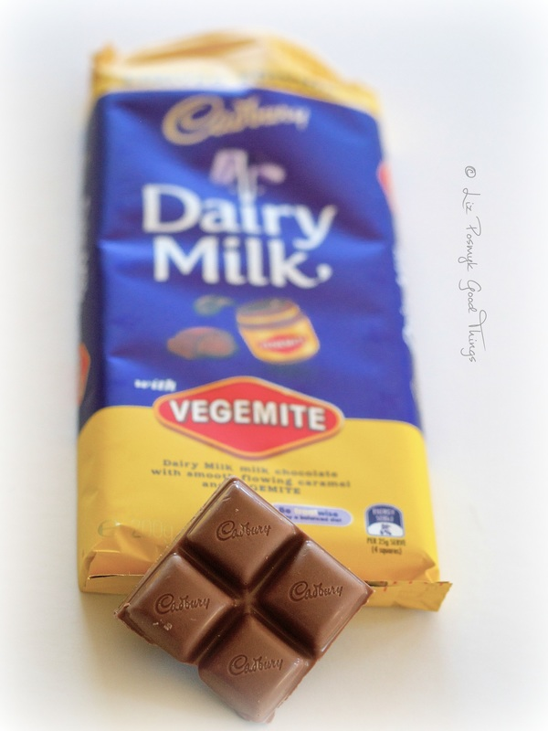 Cadbury dairy milk chocolate with vegemite - Good Things