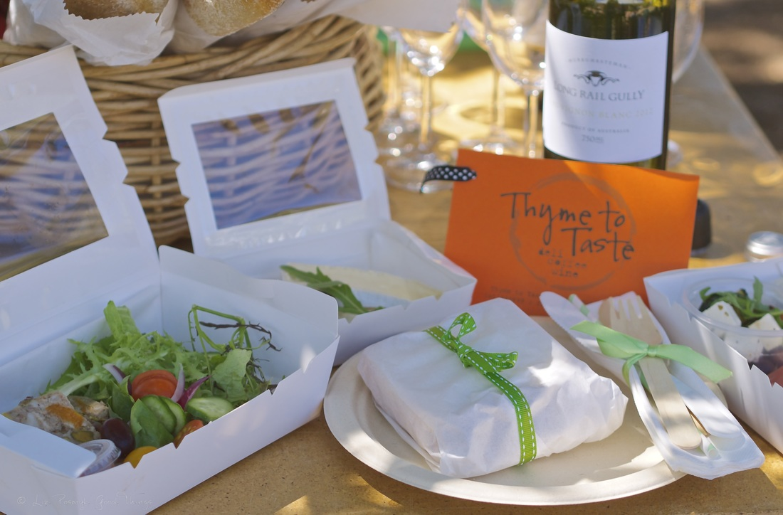 Picnic lunch provided by Thyme to Taste deli in Comur Street Yass - image by Liz Posmyk, Good Things