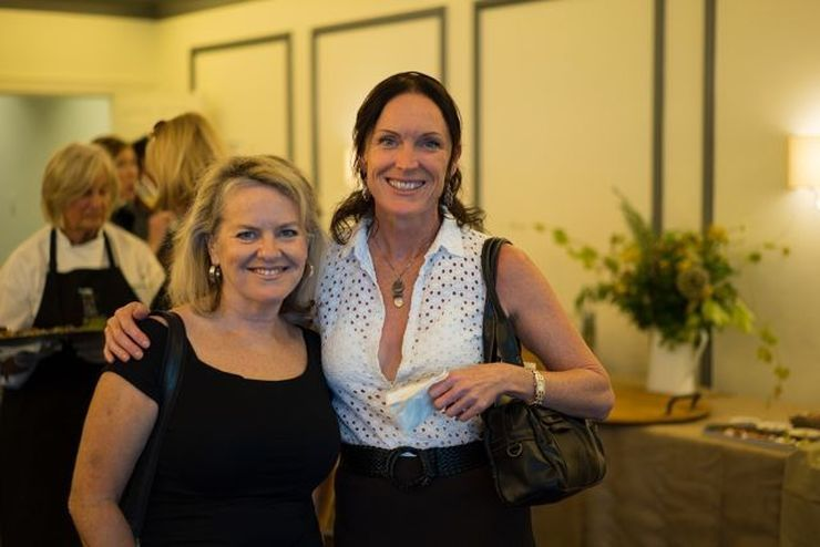 Food writer, Stephanie Clifford Smith (left) with Tina Irving from Solitaire Australia