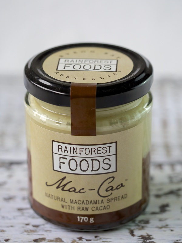 Mac-Cao natural macadamia spread with raw cacao © Good Things