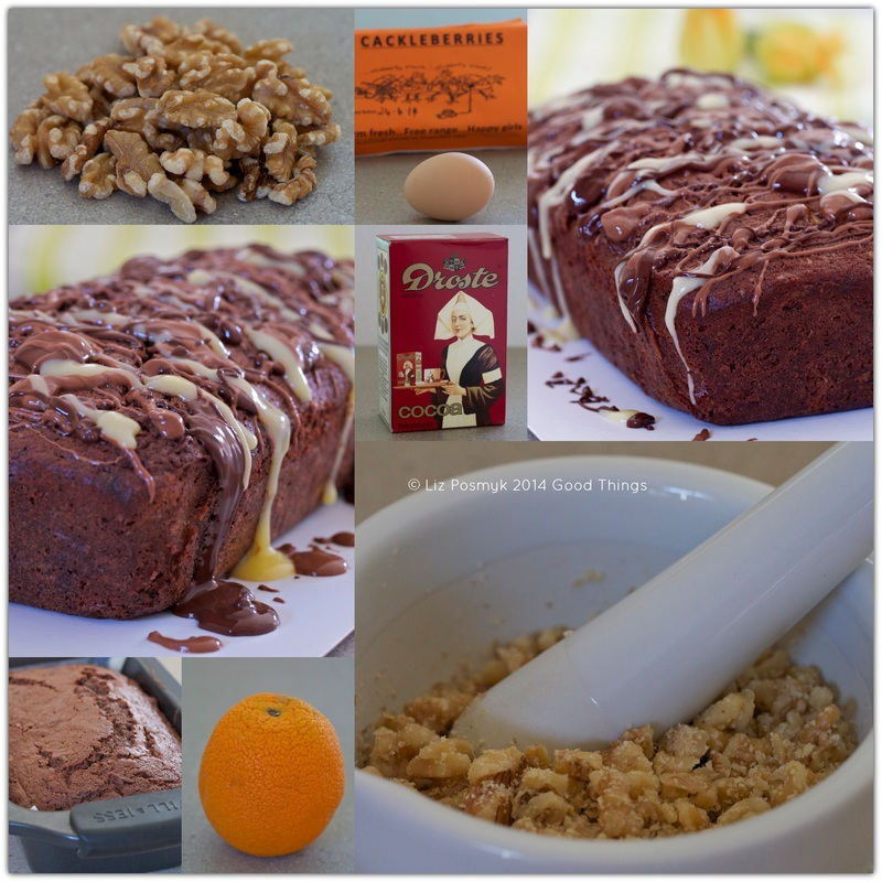 Chocolate Walnut Zucchini Cake collage by Liz Posmyk Good Things