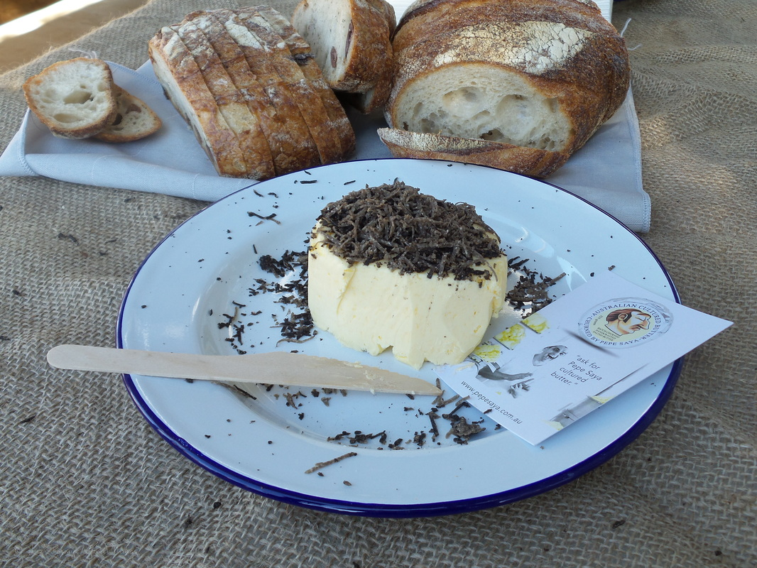 Sonoma bread with Pepe Saya butter and truffle