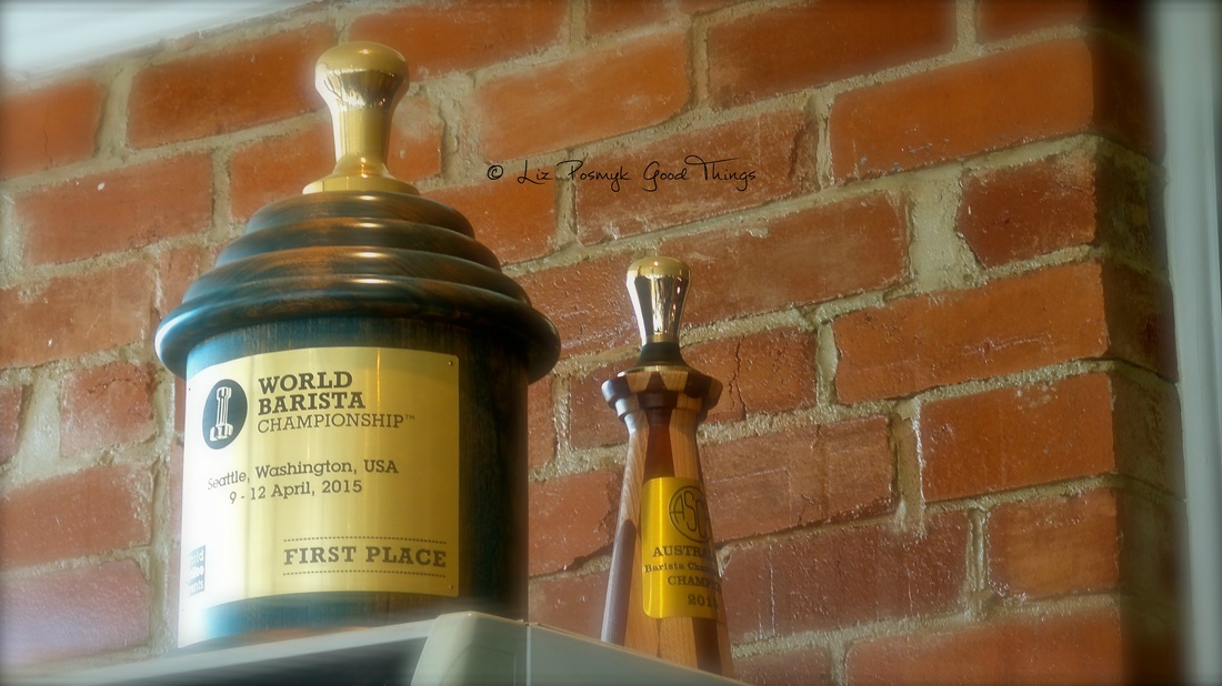 World Barista Champion trophy - Sasa Sestic Ona Coffee