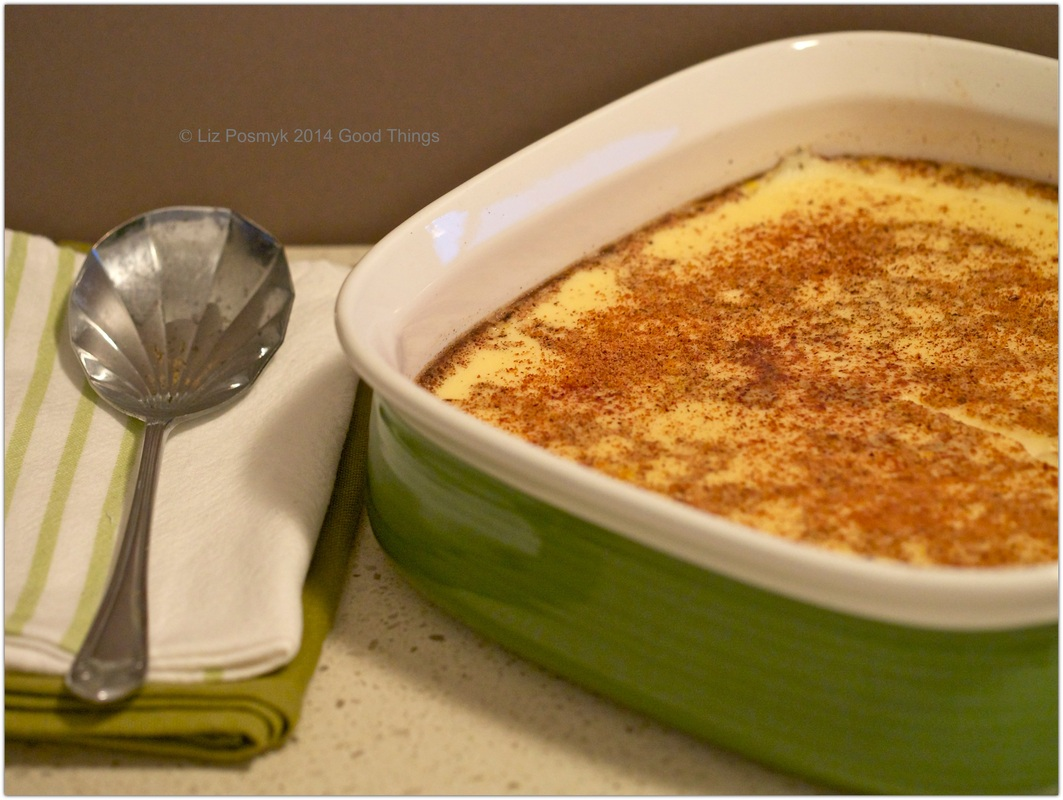 Baked vanilla custard - the ultimate! By Liz Posmyk Good Things