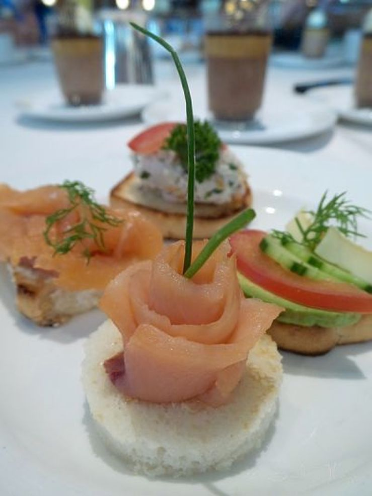 Fresh canapes on board the Golden Princess - photo Liz Posmyk, Good Things