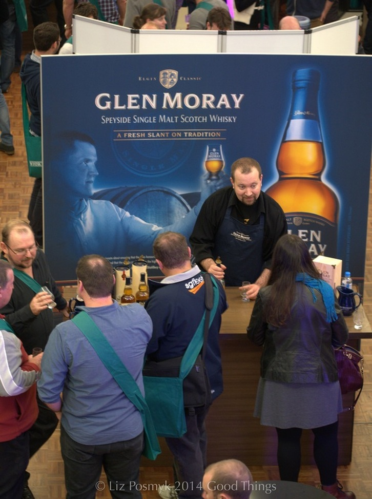 Glen Moray Whisky stand at Whisky Live in Canberra