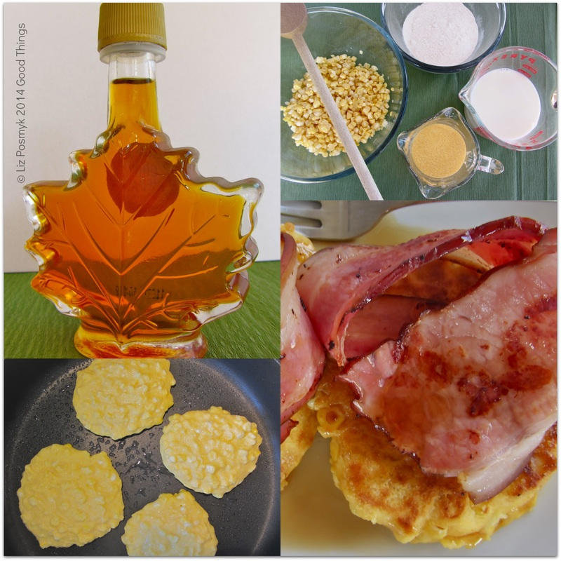Making corn and polenta pancakes by Good Things, Liz Posmyk