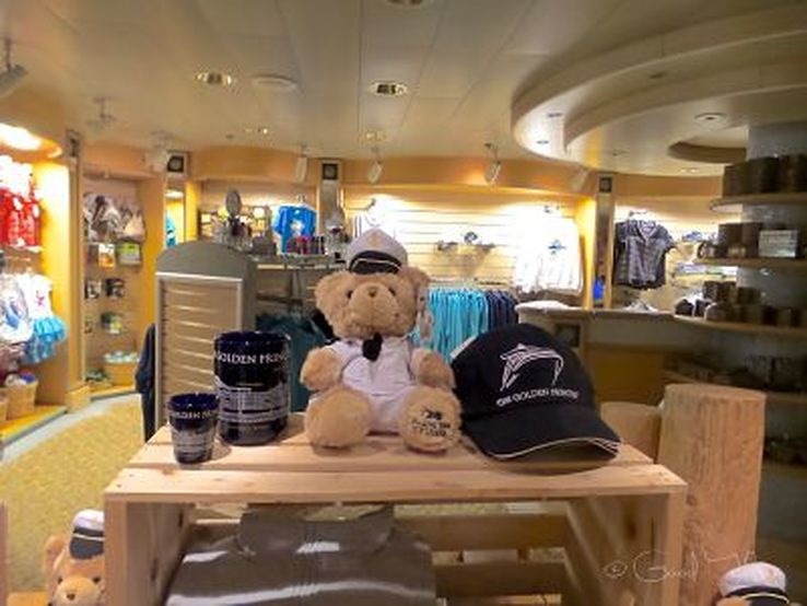 One of the boutiques on board the Golden Princess - photo Liz Posmyk