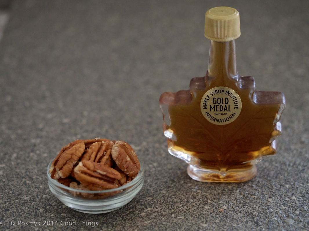 Pecans and maple syrup = yum! by Liz Posmyk Good Things