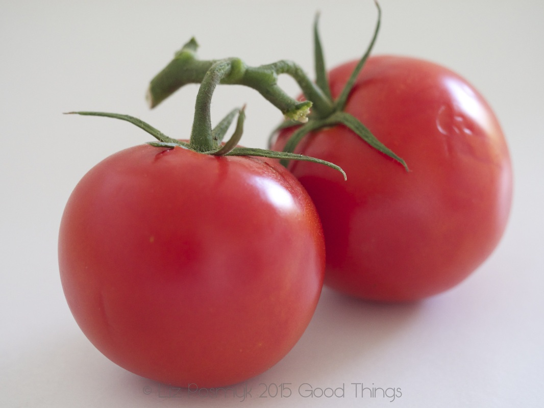 Market fresh vine ripened tomatoes by Good Things