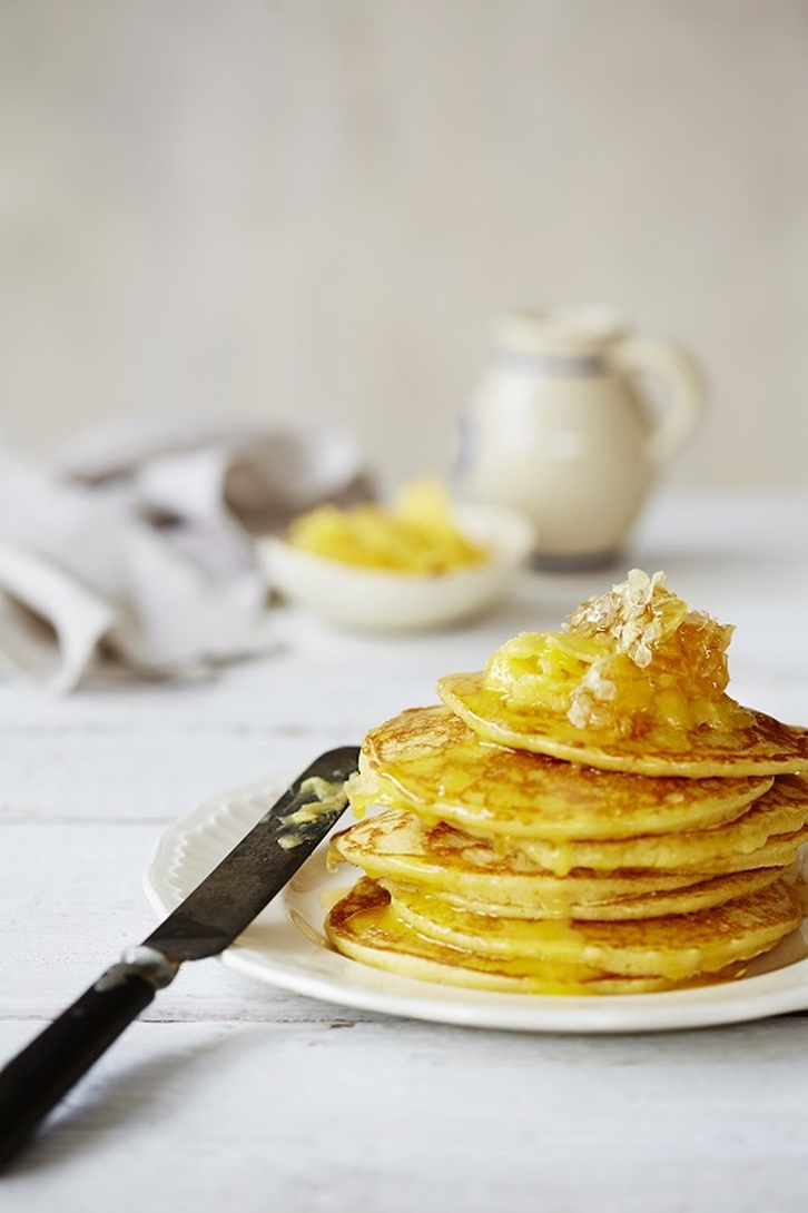 Pancakes with Honey Butter