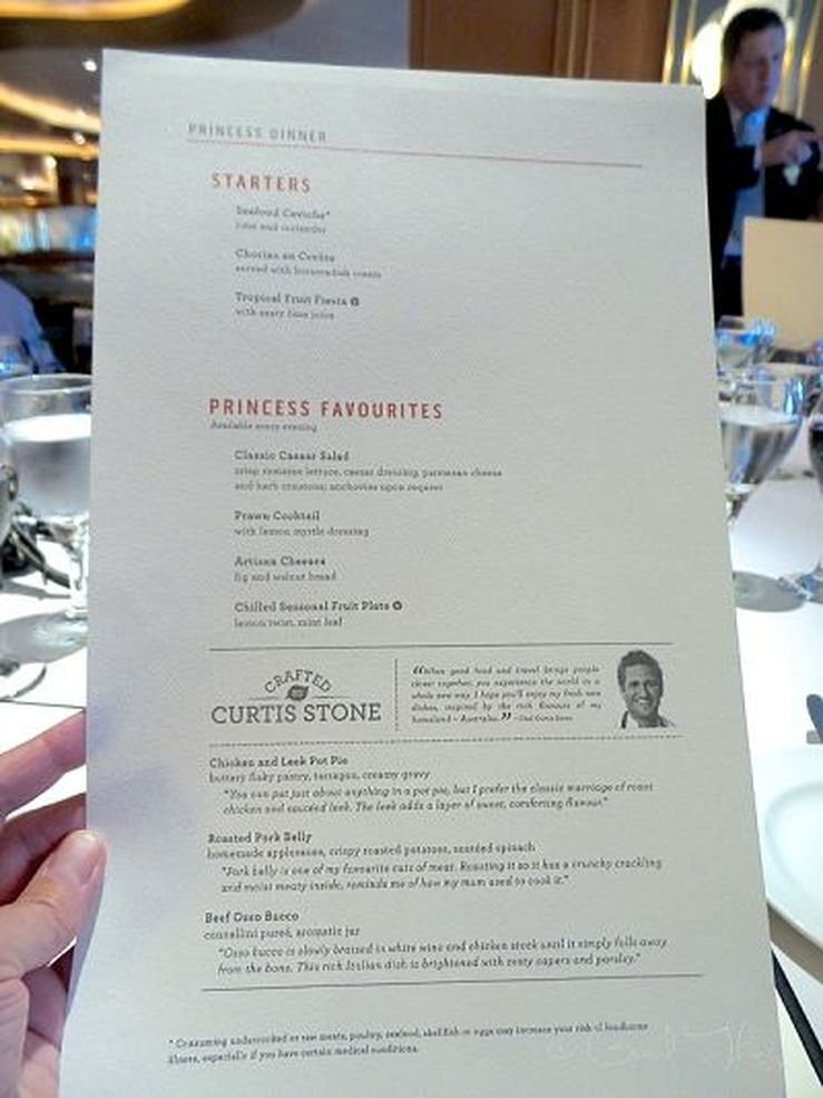 SHARE menu by Curtis Stone on the Golden Princess - photo Liz Posmyk Good Things