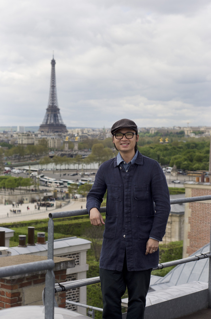 Luke Nguyen in Paris, image courtesy SBS Food