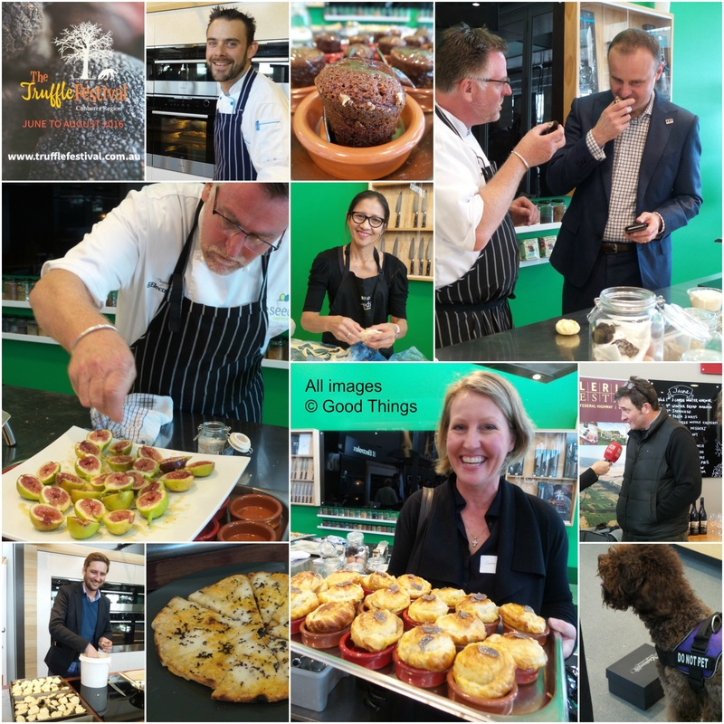 Launch of the Truffle Festival Canberra Region 2016 - collage by Liz Posmyk Good Things