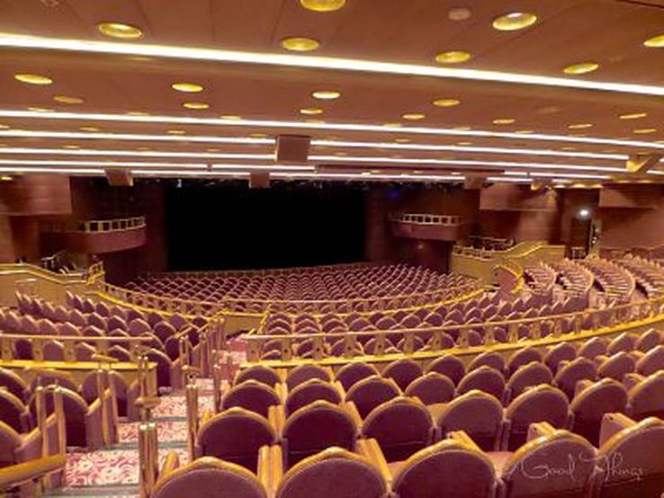 The main theatre on board the Golden Princess - photo Liz Posmyk, Good Things