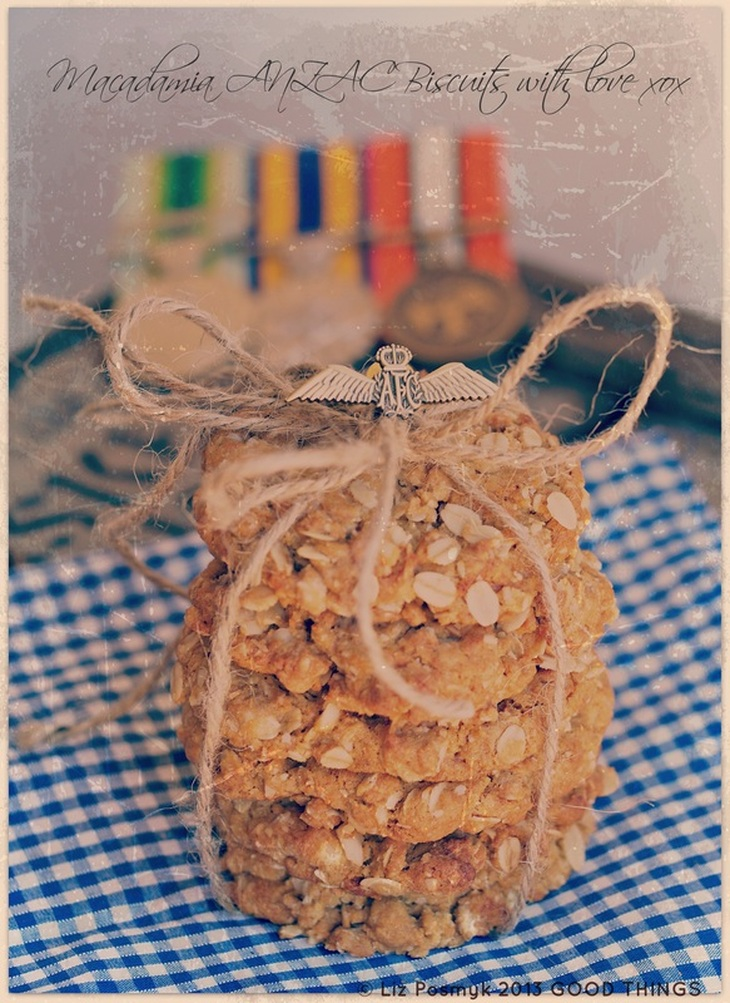 Macadamia ANZAC biscuits by Liz Posmyk, Good Things