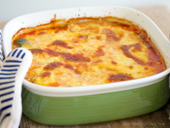 Zucchini moussaka with bolognese
