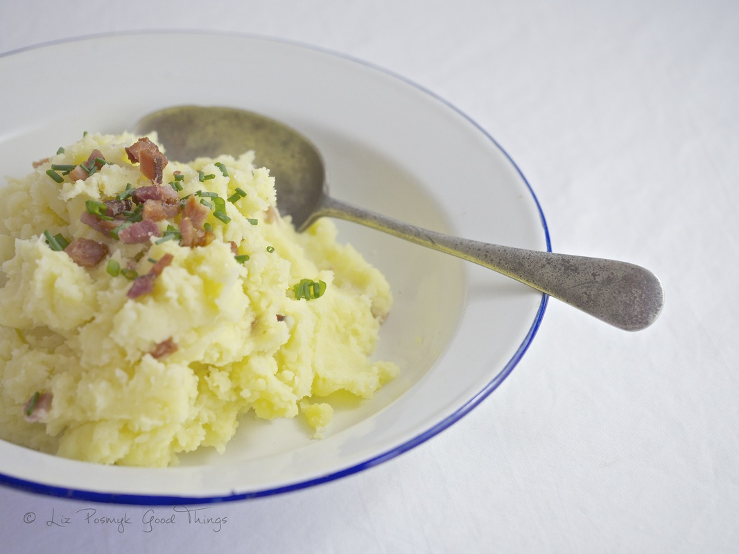 Apple and bacon potato mash - himmel unde erde