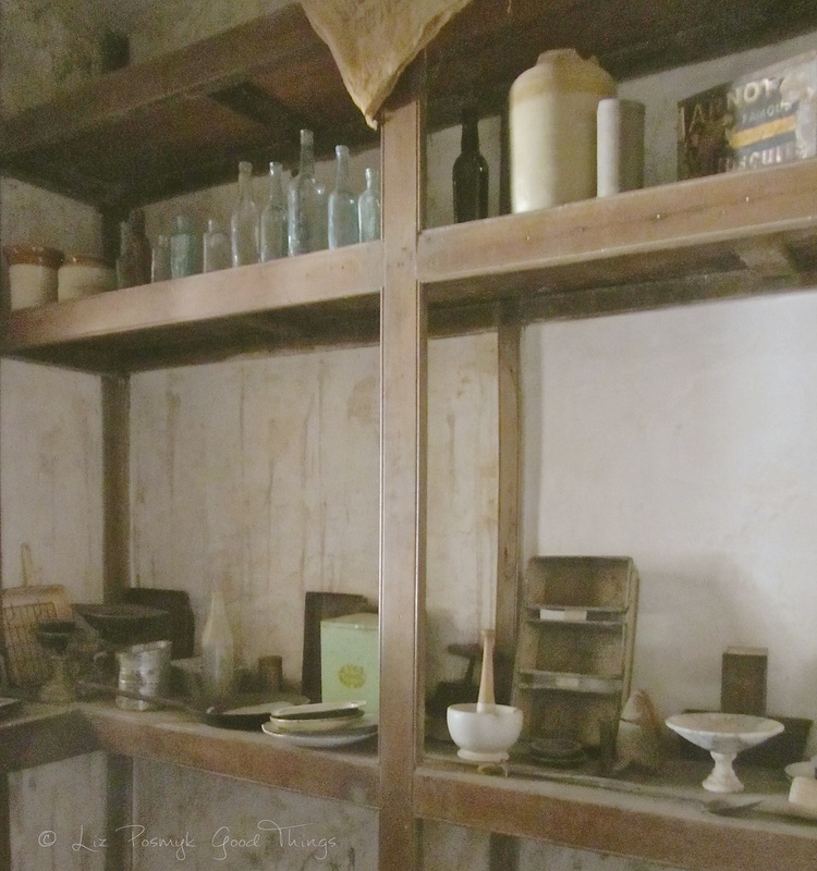 Shelves in the larder at Cooma Cottage - Liz Posmyk Good Things
