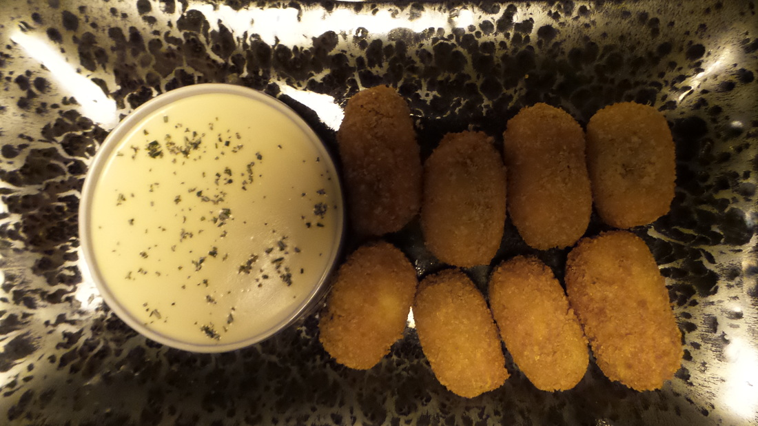 Quail croquettes served as a snack at the Farmhouse Restaurant Pialligo Estate - photo by Liz Posmyk Good Things