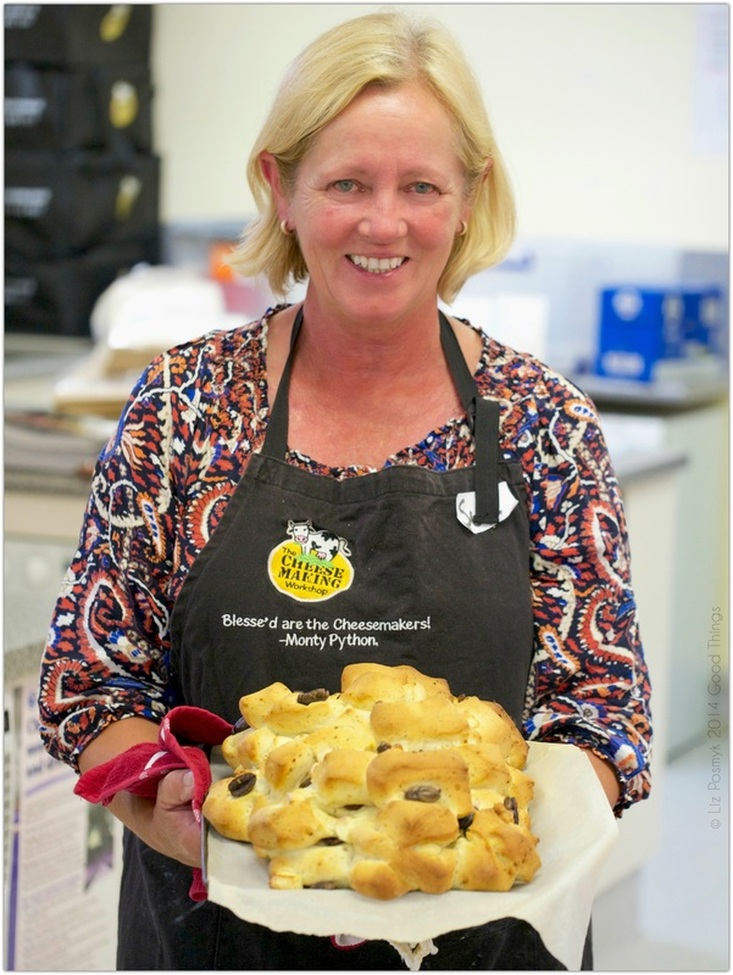 Susan Meagher from The Cheesemaking Workshop bakes a feta and olive pullapart loaf