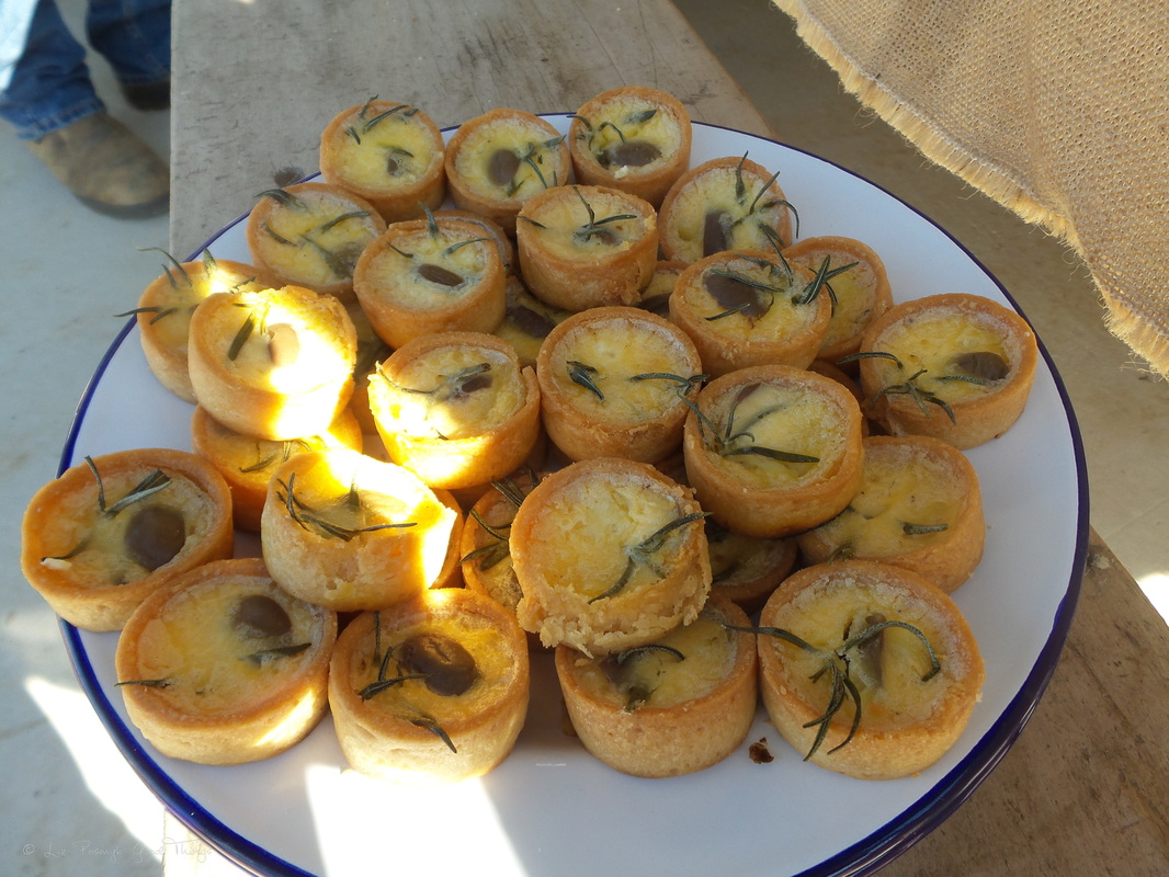 Olive and rosemary tartlets