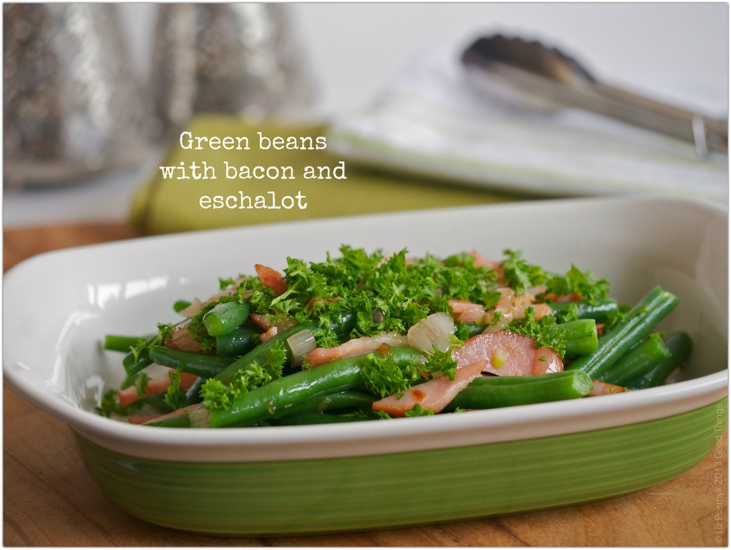 Green beans with bacon and eschalot