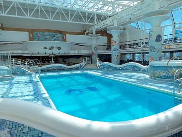 One of the many swimming pools on board the Golden Princess - photo Liz Posmyk, Good Things