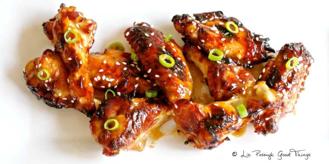 Chicken wings with ginger, honey and sesame - best recipes