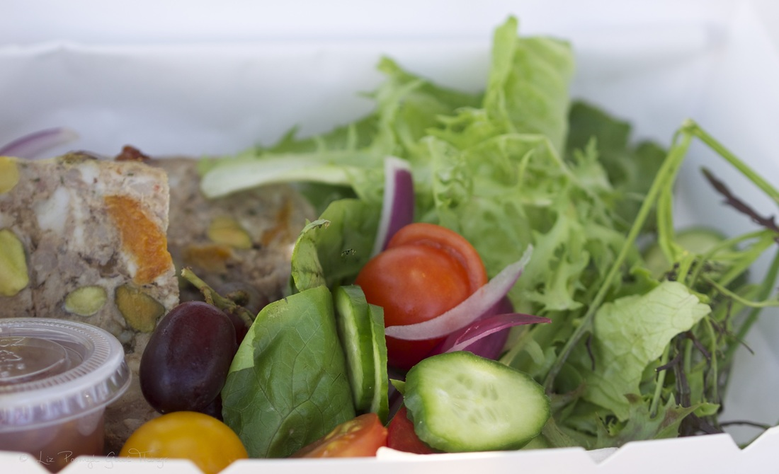 Duck Terrine with a garden salad from Thyme to Taste - photo by Liz Posmyk