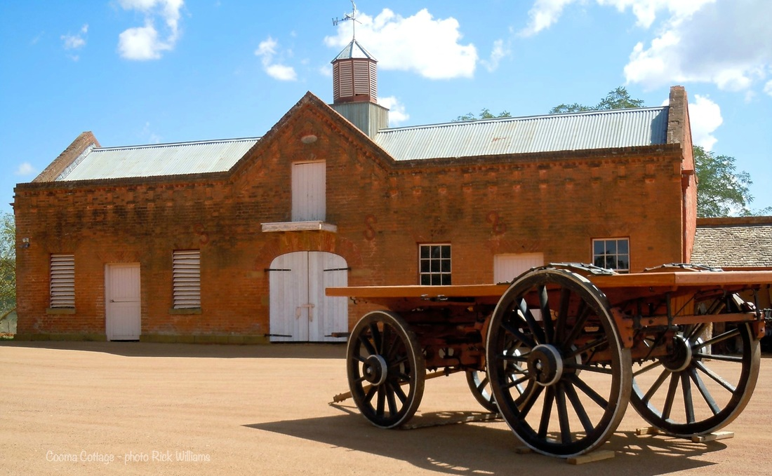 The historic stables at Cooma Cottage in Yass NSW