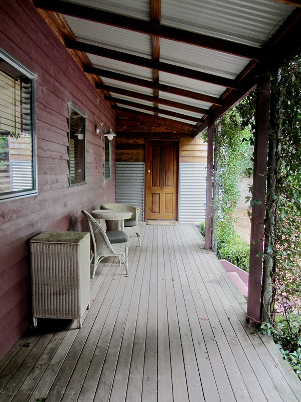 The front verandah at Sahali - a luxury self contained holiday home in the Kangaroo Valley New South Wales