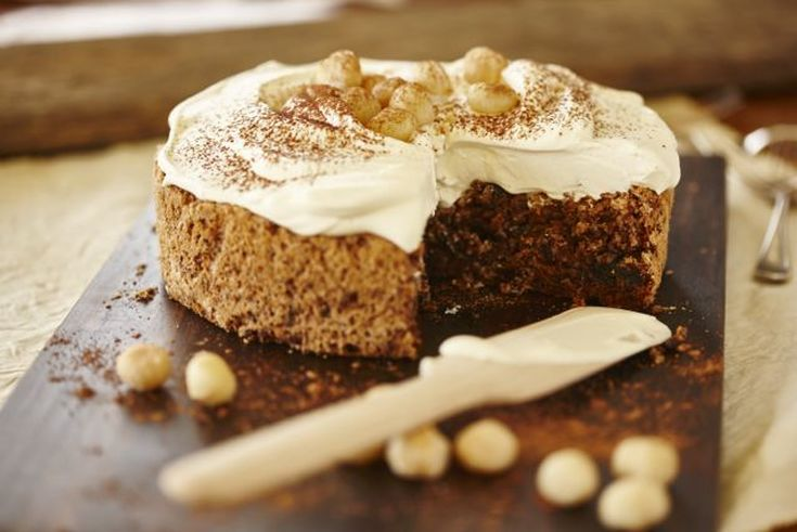 Macadamia, date and chocolate torte 2 - weekend baking